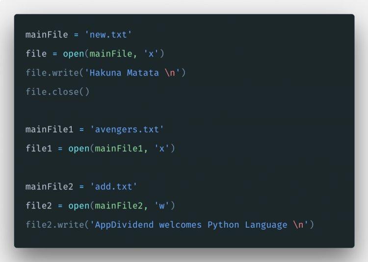 Python File Writing