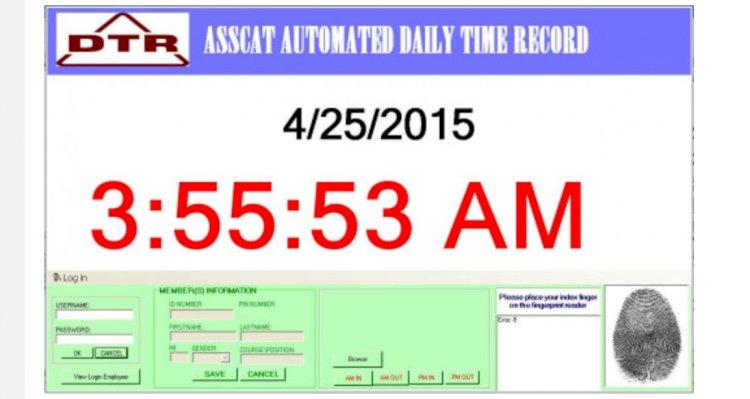 Employee Attendance System with Fingerprint Scanning
