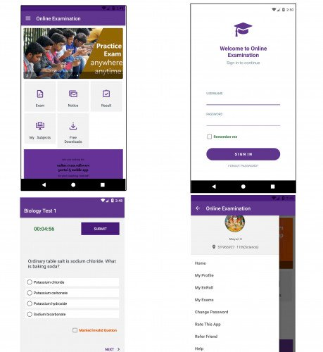 Online Exam Android App with Admin Panel