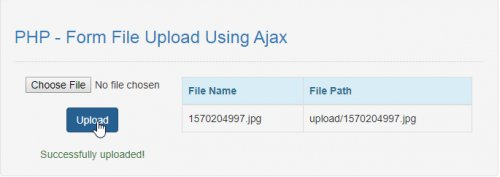 Form File Upload Using Ajax Using PHP