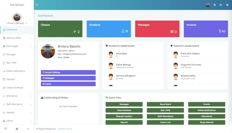 Ultimate school management system with free download
